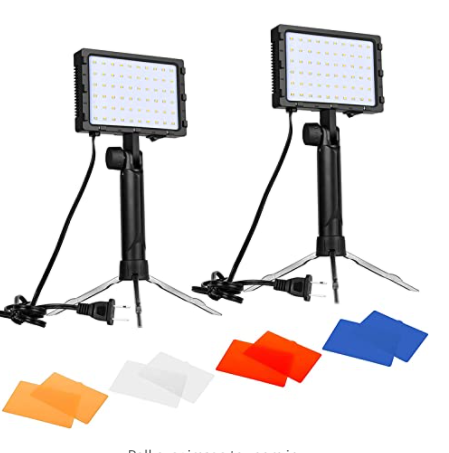 Portable Photography Lighting Kit for Table Top Photo Video